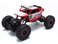 RC Car - Crawler: Große Räder, große Bodenfreiheit, Grobprofilreifen, Allradantrieb, extrem bewegliche Einzelradaufhängung, extrem Geländegängig, langsame Geschwindigkeit in schwerem Gelände.