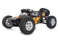 RC Car - Truggy: Breiter Radstand, oft Allradantrieb, tiefer Schwerpunkt, schnell auf mittlerem Gelände.