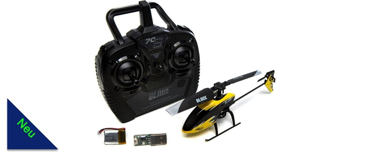 Der Blade 70 S ist ein toller Minihubschrauber für Einsteiger. Aus der Box heraus erhält der Pilot einen Hubschrauber mit allem nötigen Zubehör. Der leichte und sehr stabile Aufbau sowie die Sicherheit der Safe Technologie machen das Hubschrauber fliegen lernen einfach und garantieren den Erfolg.